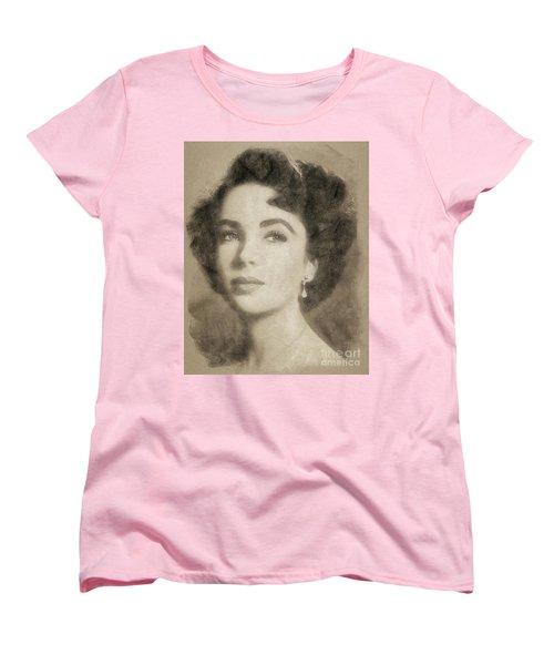 Elizabeth Taylor, Vintage Hollywood Legend By John Springfield Women's T-Shirt (Standard Cut) by John Springfield