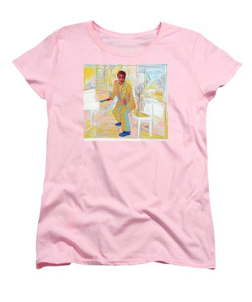Elton John Women's T-Shirt (Standard Cut) by Martin Cohen