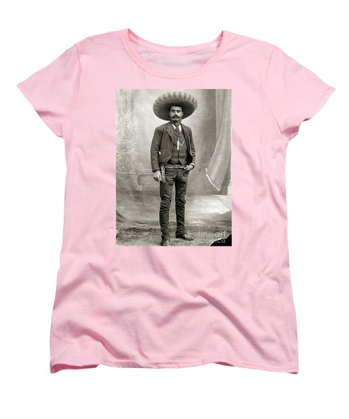 Women's T-Shirt (Standard Cut) featuring the photograph Emiliano Zapata by Pg Reproductions