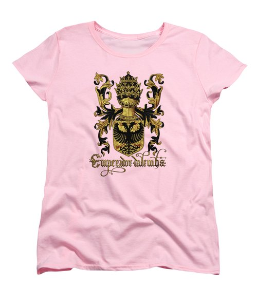 Emperor Of Germany Coat Of Arms - Livro Do Armeiro-mor Women's T-Shirt (Standard Cut) by Serge Averbukh