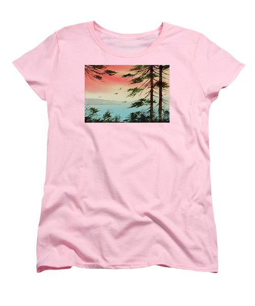 Women's T-Shirt (Standard Cut) featuring the painting Evening Light by James Williamson