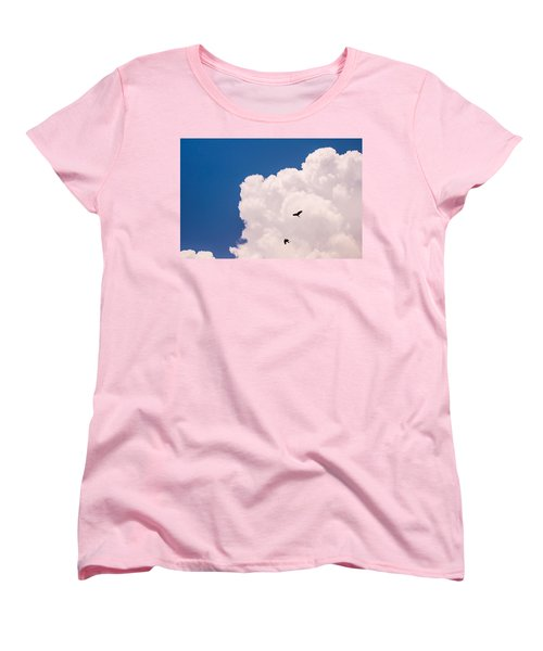 Women's T-Shirt (Standard Cut) featuring the photograph Flying Free by Jenny Rainbow