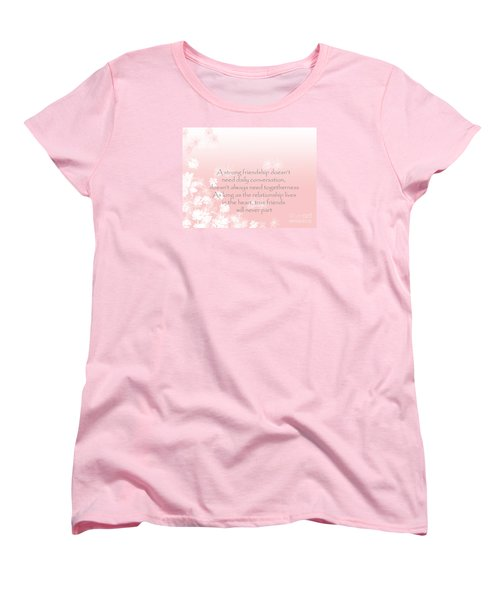 Women's T-Shirt (Standard Cut) featuring the digital art Friendship by Trilby Cole