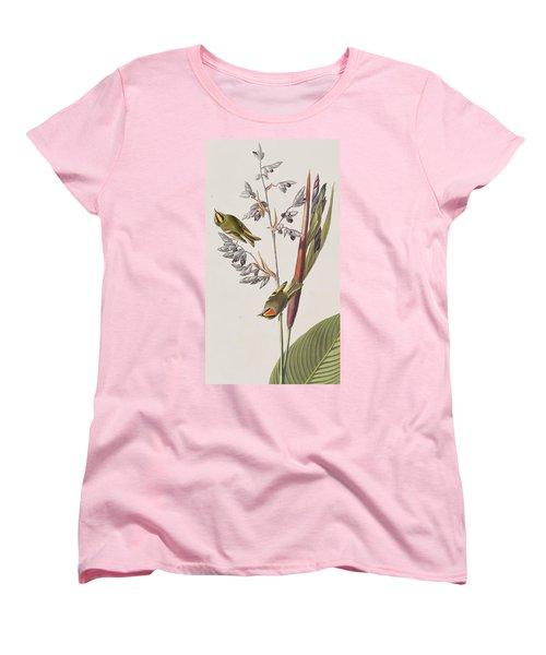 Golden-crested Wren Women's T-Shirt (Standard Cut) by John James Audubon