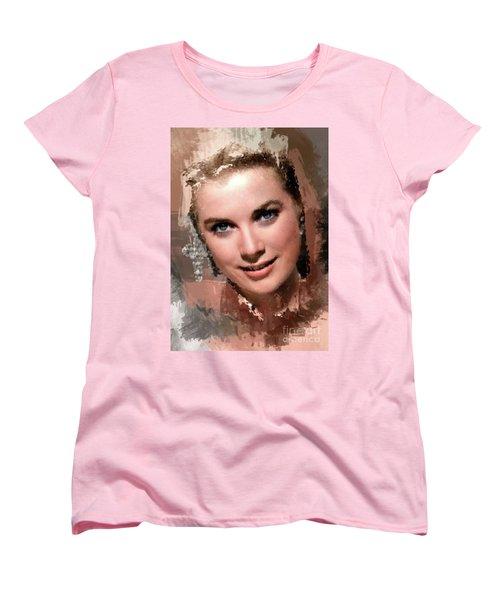 Grace Kelly, Vintage Hollywood Actress Women's T-Shirt (Standard Cut)