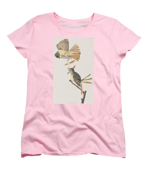 Great Crested Flycatcher Women's T-Shirt (Standard Cut) by John James Audubon