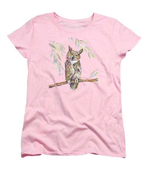 Great Horned Owl  Women's T-Shirt (Standard Cut) by Amy Kirkpatrick