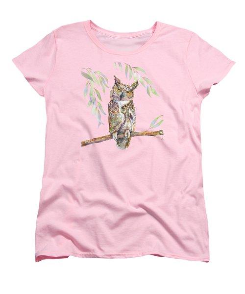 Great Horned Owl  Women's T-Shirt (Standard Cut) by Amy Kirkpatrick