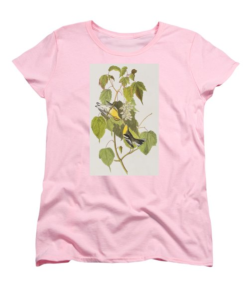 Hemlock Warbler Women's T-Shirt (Standard Cut) by John James Audubon