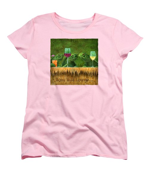 Honu Hula Lounge... Women's T-Shirt (Standard Cut) by Will Bullas