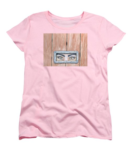 Women's T-Shirt (Standard Cut) featuring the painting I See You by Edwin Alverio