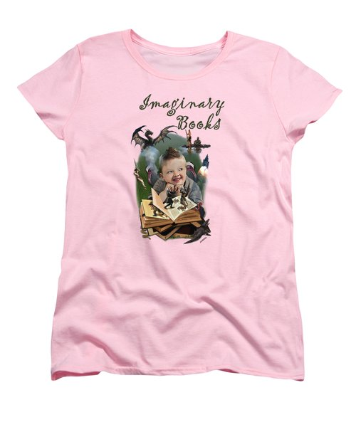 Imaginary Books Women's T-Shirt (Standard Cut) by Joseph Juvenal