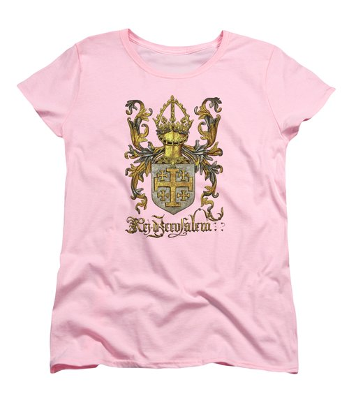 Kingdom Of Jerusalem Coat Of Arms - Livro Do Armeiro-mor Women's T-Shirt (Standard Cut) by Serge Averbukh