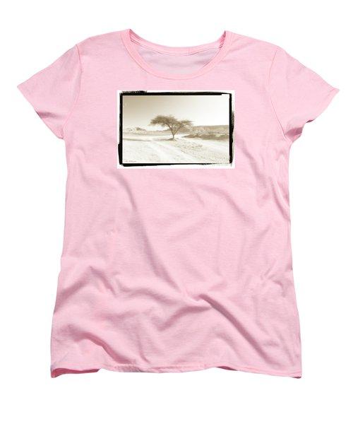 Lonely Tree Women's T-Shirt (Standard Cut) by Arik Baltinester