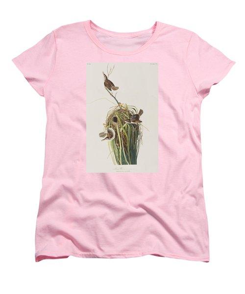 Marsh Wren  Women's T-Shirt (Standard Cut) by John James Audubon