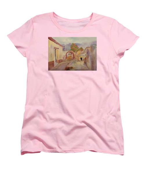 Mexican Street Scene Women's T-Shirt (Standard Cut) by Larry Hamilton