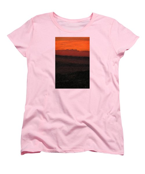 Not Quite Rothko - Blood Red Skies Women's T-Shirt (Standard Cut) by Serge Averbukh