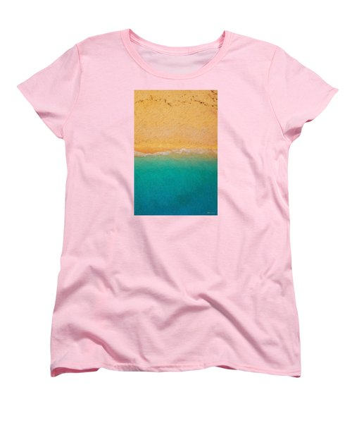 Not Quite Rothko - Surf And Sand Women's T-Shirt (Standard Cut) by Serge Averbukh