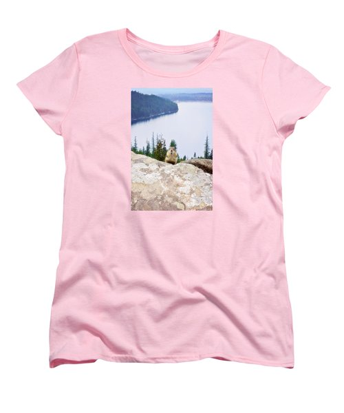 Women's T-Shirt (Standard Cut) featuring the photograph On Top Of The World by Janie Johnson