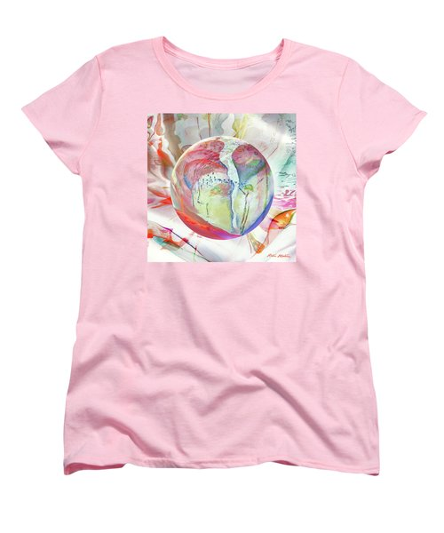Women's T-Shirt (Standard Cut) featuring the digital art Orbiental Expression by Robin Moline