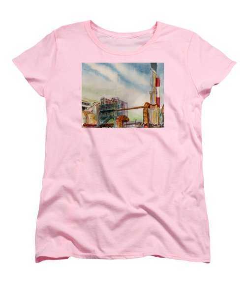 Women's T-Shirt (Standard Cut) featuring the painting Paia Mill 2 by Eric Samuelson