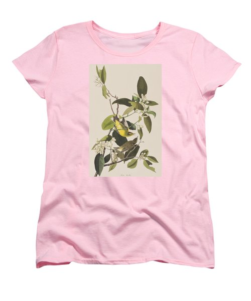 Palm Warbler Women's T-Shirt (Standard Cut) by John James Audubon