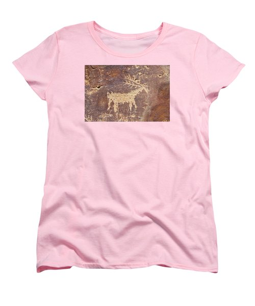Women's T-Shirt (Standard Cut) featuring the photograph Petroglyph - Fremont Indian by Breck Bartholomew