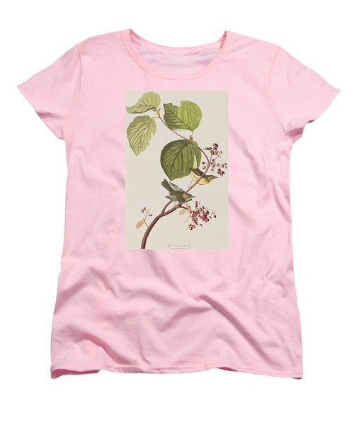 Pine Swamp Warbler Women's T-Shirt (Standard Cut) by John James Audubon