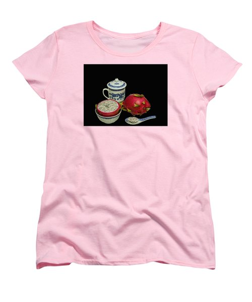 Women's T-Shirt (Standard Cut) featuring the photograph Pink Dragon Fruit  by David French