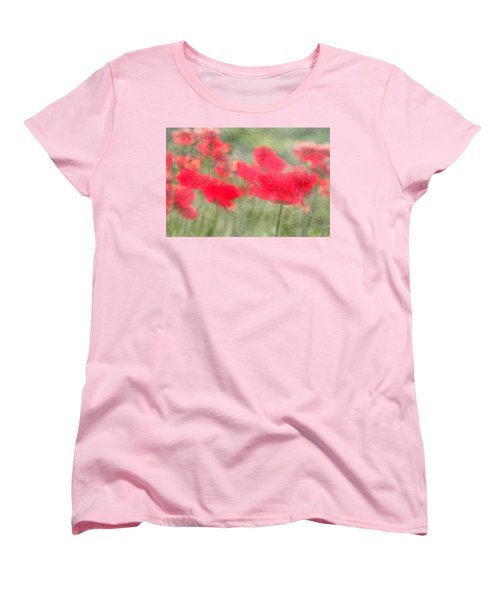 Poppies Women's T-Shirt (Standard Cut) by Catherine Alfidi