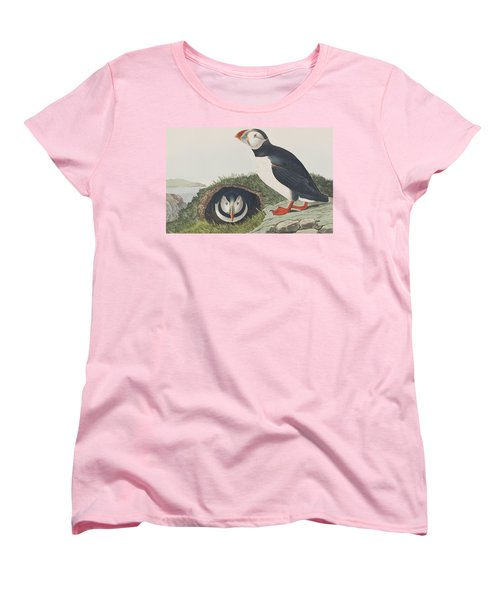 Puffin Women's T-Shirt (Standard Cut) by John James Audubon
