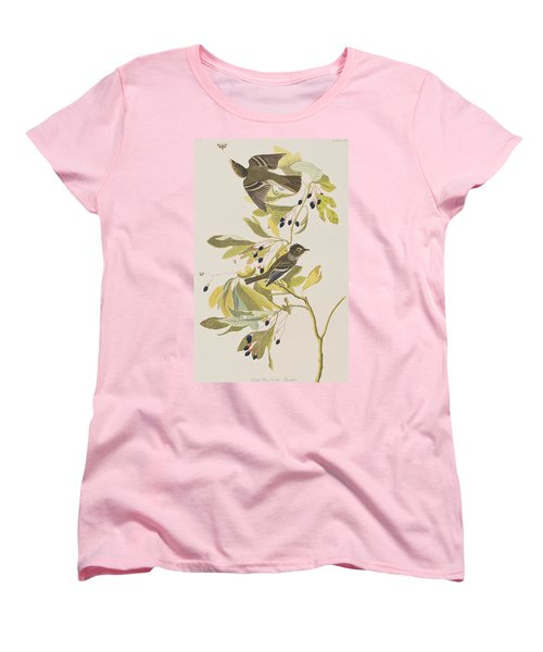 Small Green Crested Flycatcher Women's T-Shirt (Standard Cut) by John James Audubon