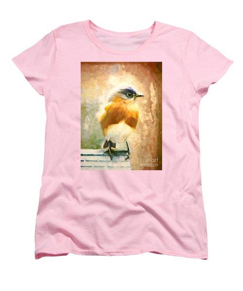 Strapping Bluebird Women's T-Shirt (Standard Cut) by Tina LeCour