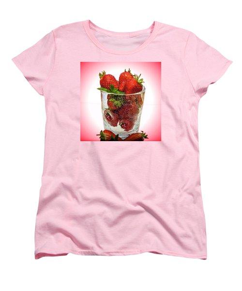 Strawberry Dessert Women's T-Shirt (Standard Cut)