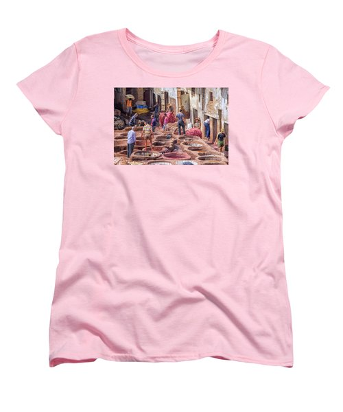 Tannery In Fez Women's T-Shirt (Standard Cut) by Patricia Hofmeester