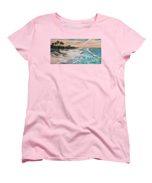 Tropical Shore Women's T-Shirt (Standard Cut)