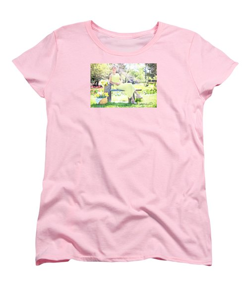 Vintage Val Spring Tulips Women's T-Shirt (Standard Cut) by Jill Wellington