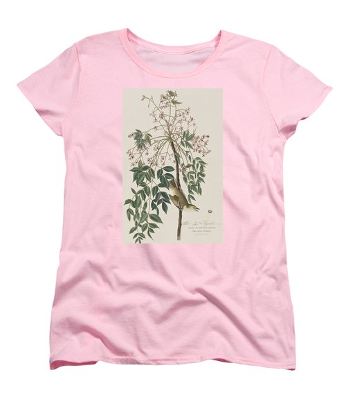 White-eyed Flycatcher Women's T-Shirt (Standard Cut) by John James Audubon