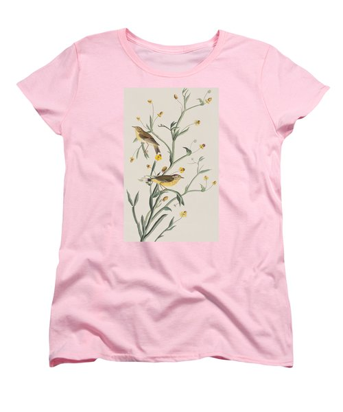 Yellow Red-poll Warbler Women's T-Shirt (Standard Cut) by John James Audubon