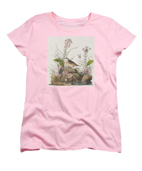 Yellow-winged Sparrow Women's T-Shirt (Standard Cut) by John James Audubon