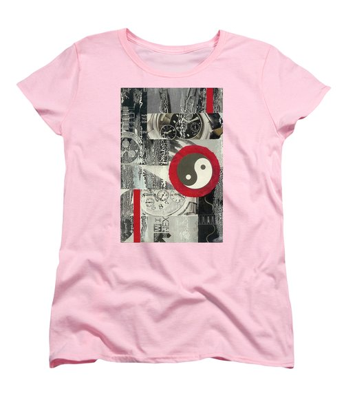 Women's T-Shirt (Standard Cut) featuring the mixed media Ying Yang by Desiree Paquette