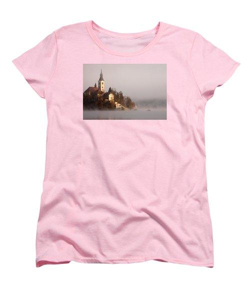 Misty Lake Bled Women's T-Shirt (Standard Cut)