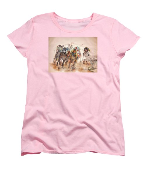 Women's T-Shirt (Standard Cut) featuring the painting American  Pharaoh  Album  by Debbi Saccomanno Chan