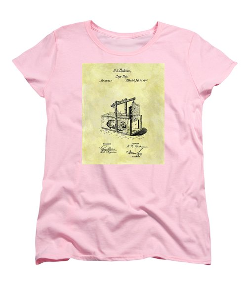 Women's T-Shirt (Standard Cut) featuring the mixed media 1870 Mousetrap Patent by Dan Sproul