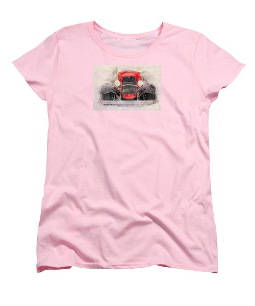 1932 Ford Roadster Red And Black Women's T-Shirt (Standard Cut)