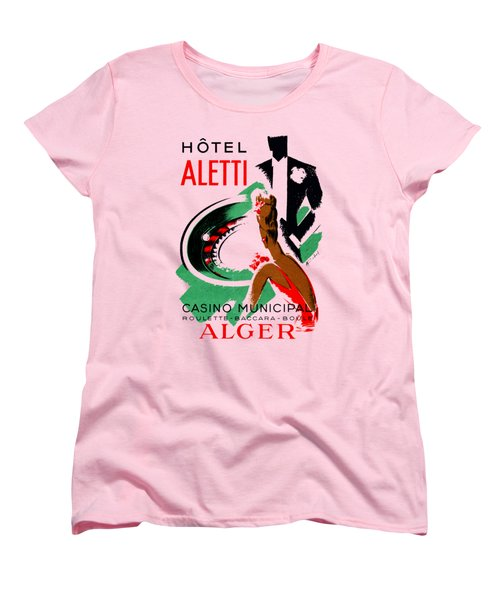 1935 Hotel Aletti Casino Algeria Women's T-Shirt (Standard Cut) by Historic Image