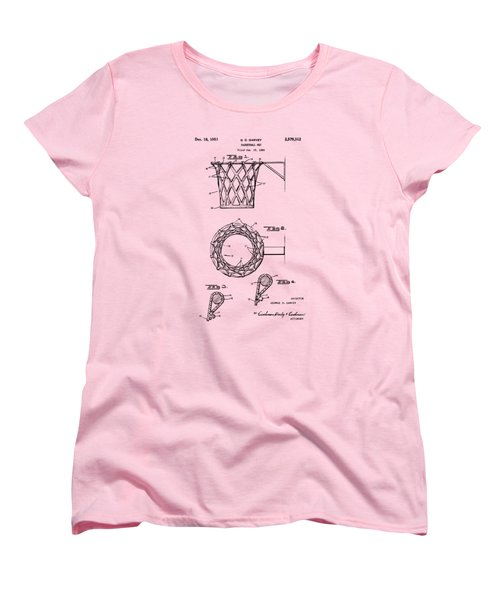 1951 Basketball Net Patent Artwork - Vintage Women's T-Shirt (Standard Cut) by Nikki Marie Smith