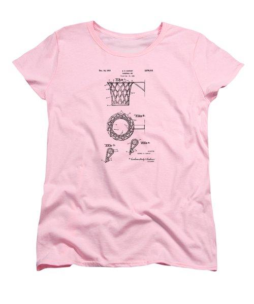 1951 Basketball Net Patent Artwork - Vintage Women's T-Shirt (Standard Cut) by Nikki Marie Smith