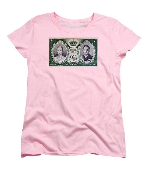 1956 Princess Grace Of Monaco Stamp II Women's T-Shirt (Standard Cut) by Bill Owen