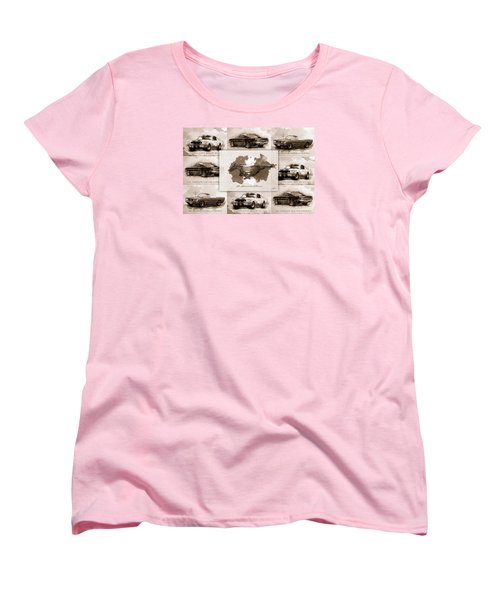 1965 Ford Mustang Collage I Women's T-Shirt (Standard Cut)